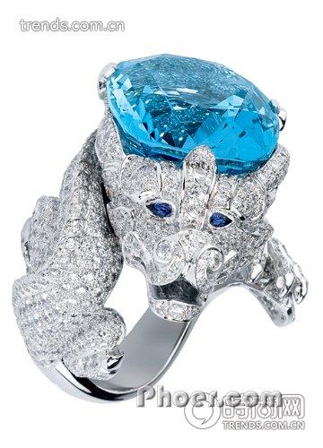 的奢华动物戒指